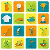 Golf Icons Set