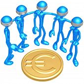 Blind To Euro Coin