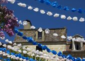 Flower decorations in Bergerac.