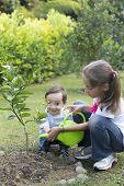 Happy Children Gardening