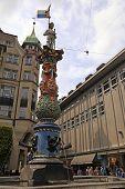 Medieval Fountain In Lucerne, Switzerland