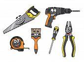 Cartoon diy tools characters
