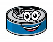Cartoon happy tin can character