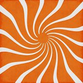 Orange Sunshine Swirl Retro Funky Background