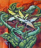Street art Montreal carnivorous plants
