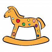 painted children's rocking horse