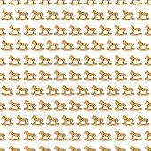 seamless background of rocking horses