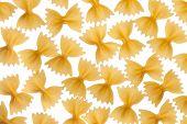 Italian Raw Pasta Farfalle, Bow Tie, Butterfly