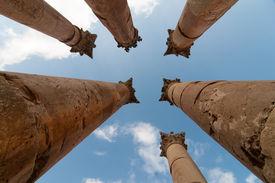 pic of artemis  - Temple of Artemis in Jerash Jordan the Gerasa of Antiquity - JPG
