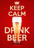 Vector Illustration Keep Calm And Drink Beer