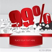 Red 99  Percent Discount On Vector Cracked Ground On White Background