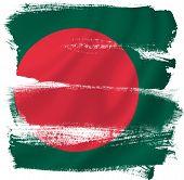 stock photo of bangladesh  - Bangladesh flag backdrop background texture isolated on white - JPG