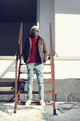 Fashion, Clothes And People Concept - Stylish African Man In The City