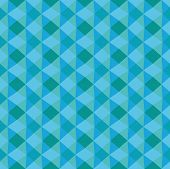 Blue geometric seamless texture. The illusion of volume, triangle, rhombus. Pattern of the fabric