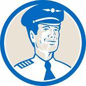 Flight Engineer Navigator Circle Retro