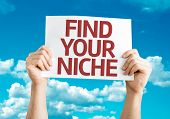 Find Your Niche card with sky background