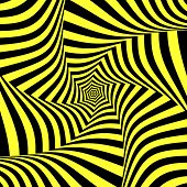 Illusion of torsion movement. Abstract design. Vector art.