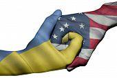 Handshake Between Ukraine And United States