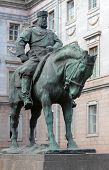 ST. PETERSBURG, RUSSIA - MAY 10, 2012: Monument to Alexander III in front of the Marble Palace. The monument to Imperial founder of the Great Siberian way was opened in 1909