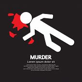 foto of murders  - Bloody Person Murder Concept Vector Illustration - JPG