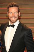 WEST HOLLYWOOD - MAR 2:: Armie Hammer at the 2014 Vanity Fair Oscar Party on March 2, 2014 in West Hollywood, California