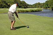 Man Golfing On Hilton Head Island