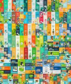 stock photo of universal sign  - Mega collection of flat web infographic concepts and banners - JPG
