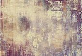 Old texture with delicate abstract pattern as grunge background. With different color patterns: yellow (beige); brown; gray; purple (violet); blue