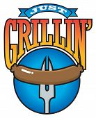 Just Grillin' Barbecue Party Graphic