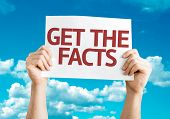 Get the Facts card with sky background