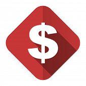 dollar flat icon us dollar sign