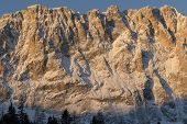 image of south tyrol  - Face of mount Langkofel  - JPG