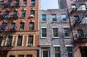 picture of west village  - West Village in New York Manhattan building facades USA NYC - JPG