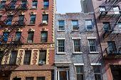 pic of west village  - West Village in New York Manhattan building facades USA NYC - JPG