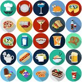 Vector Food Flat Icons