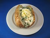 Baked Potato with Sour Cream and Chives 2
