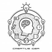 Brainstorm as infographics in icons