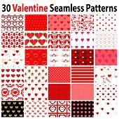 30 Valentine Seamless Patterns