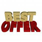 Three-dimensional Inscription Best Offer