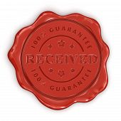 Wax Stamp Received (clipping path included)