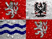 picture of bohemia  - flag of Central Bohemia with rain drops - JPG