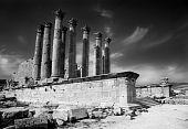stock photo of artemis  - Remains of Artemis Temple in Jerash - JPG