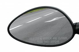 stock photo of reflections  - Rear view mirror - JPG