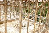 picture of scaffold  - the scaffold and building structure during construction - JPG