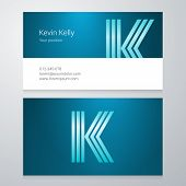 picture of letter k  - Design icon letter K Business card template - JPG