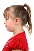 stock photo of teen pony tail  - Profile portrait of pre - JPG