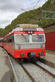 stock photo of locomotive  - Norwegian railway transport - JPG