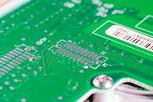 pic of transistor  - micro electronics main board with processors diodes transistors - JPG