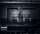 pic of stage theater  - halloween horror - JPG
