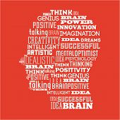 image of positive thought  - think positive graphic design  - JPG